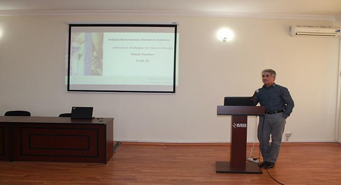 Scientific seminar of the director of Indiana Biosciences Research Institute Vidadi M.Yusibov was held.