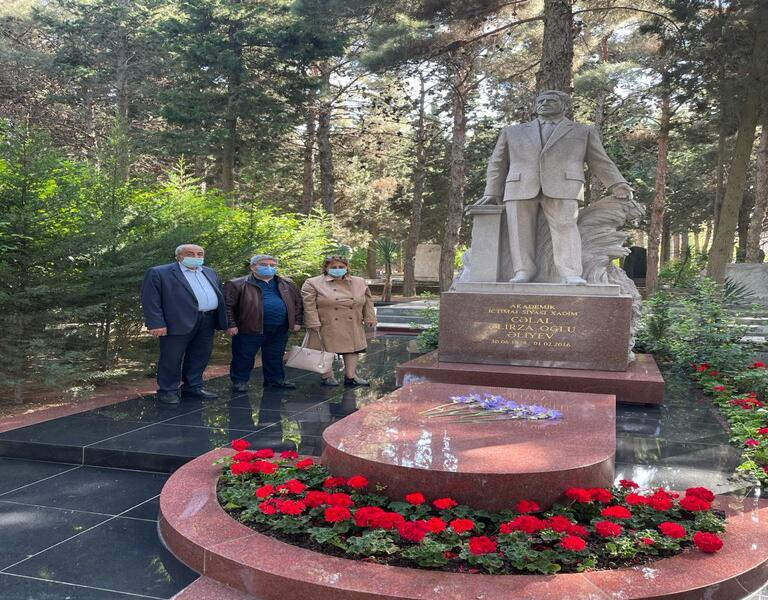 On the occasion of Ramadan, the leadership of the institute visited the grave of Jalal Aliyev