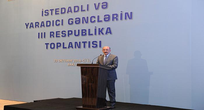 Oktyabrın 23-də Bakıda İstedadlı və yaradıcı gənclərin III Respublika toplantısı keçirilib.