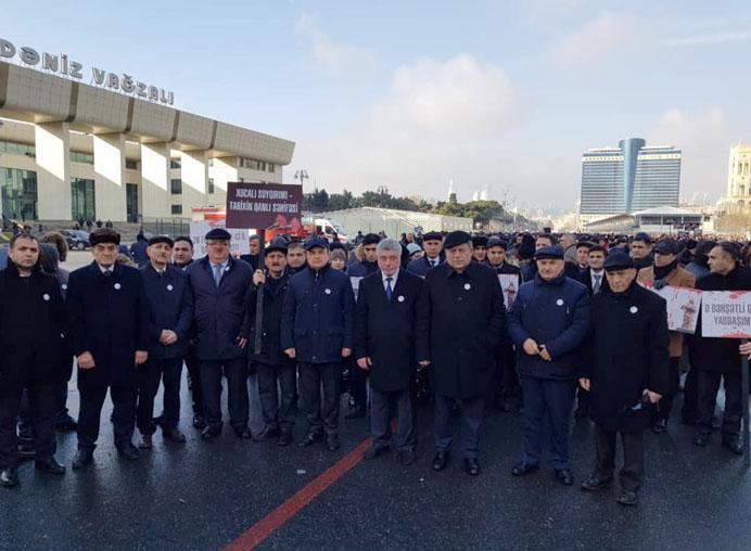 Сотрудники Академии наук приняли участие во всенародном шествии в связи с 27-ой годовщиной Ходжалинского геноцида