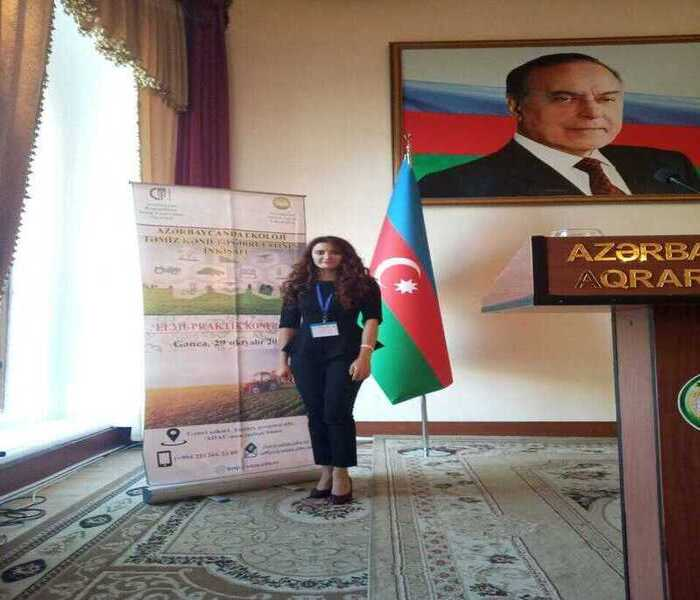 Junior research fellow of the institute participated in the scientific-practical conference held at the Azerbaijan State Agrarian University