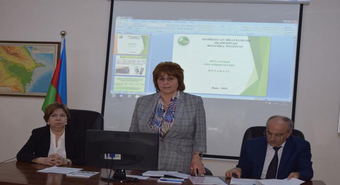 Прошло отчетное заседание Института Ботаники НАНА, посвященное итогам научной и научно-организационной деятельности за 2019-й год