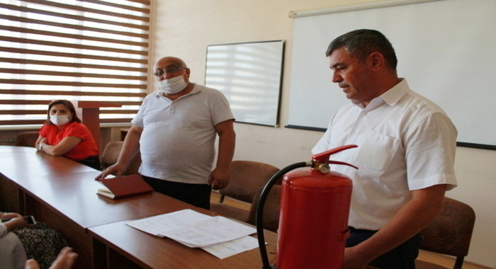 Training on fire hazard, causes, and fire safety was held at MBBI