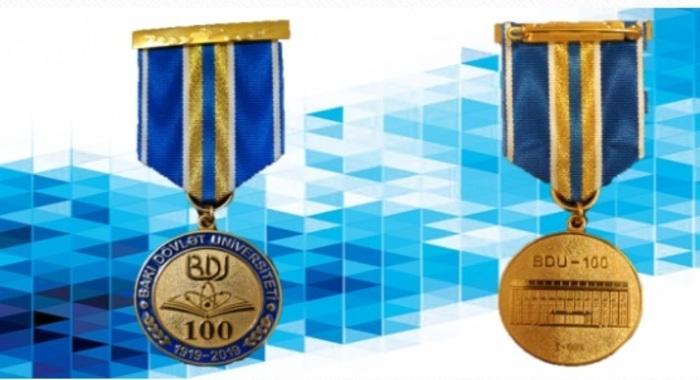 Академик Ирада Гусейнова удостоена юбилейной медали «100-летие Бакинского Государственного Университета (1919-2019)»