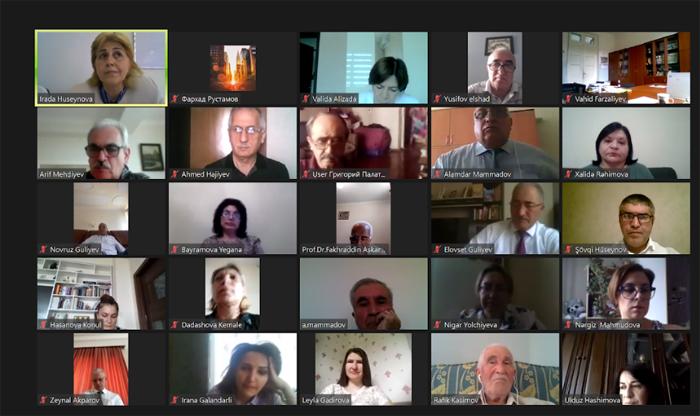 Состоялось онлайн-собрание, посвященное 110-летию академика Абдуллы Гараева