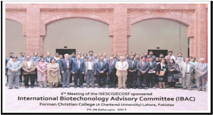 """İnstitutun əməkdaşı Pakistanın Lahor şəhərində keçirilən """"The Second Meeting of the İnternational Biotechnology Advisory Committee"""" iclasında iştirak etmişdir"""