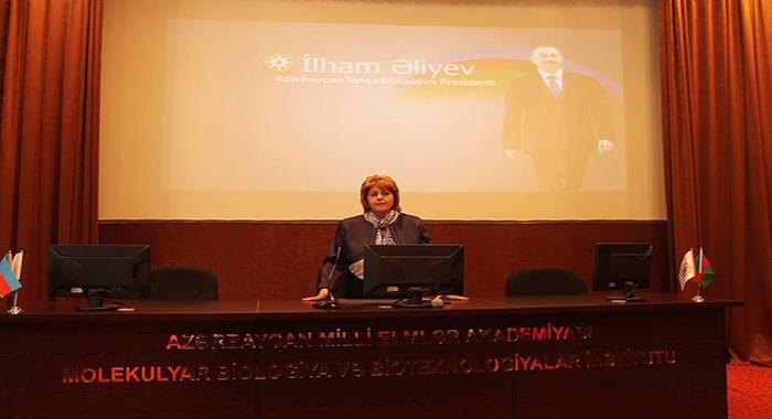 В институте Молекулярной Биологии и Биотехнологий состоялось мероприятие по поводу исторической победы президента Ильхам Алиева