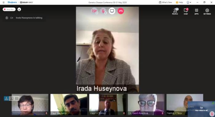 Академик Ирада Гусейнова выступила на онлайн-конференции «Генетика человека и генетические заболевания: проблемы и перспективы развития»