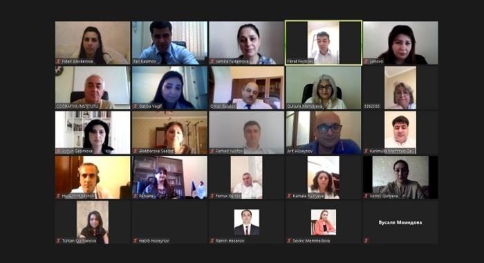 Состоялось очередное онлайн-совещание с руководителями Отделов образования НАНА